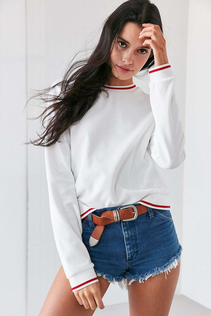 BDG Penelope Velour Pullover Top - Urban Outfitters
