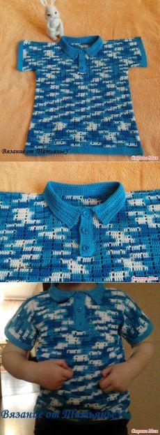 """*Рубашка """"Поло"""" для мальчика - Все в ажуре... (вязание крючком) - Страна Мам"""