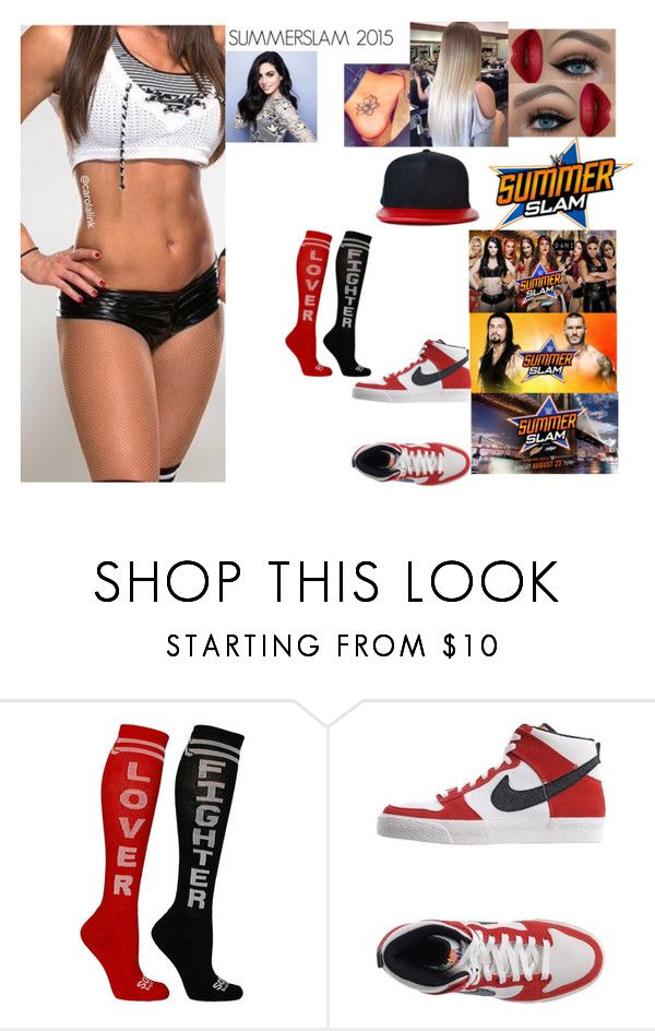 """""""SummerSlam 2015"""" by safia4life ❤ liked on Polyvore featuring WWE and NIKE"""