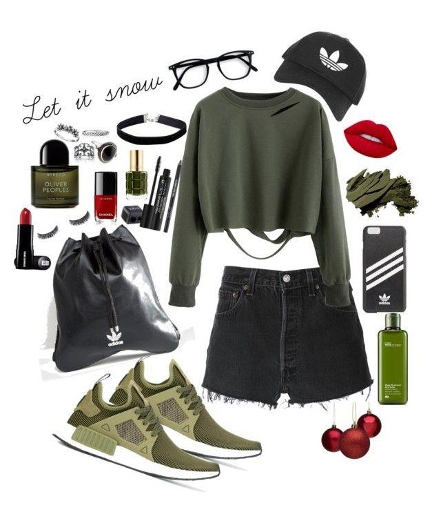 """Adidas 2.0"" by vanna0803 on Polyvore featuring adidas Originals, RE/DONE, adidas, Topshop, Rodial, Origins, L'Oréal Paris, Bobbi Brown Cosmetics, Chanel and Byredo"