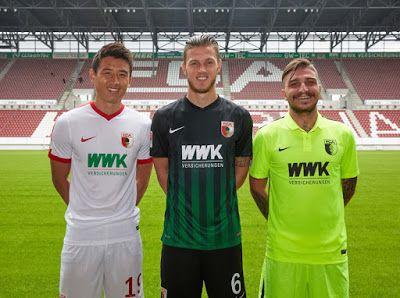 La Nouveau Nike maillot FC Augsburg 2016-17 Domicile, Exterieur,Troisieme