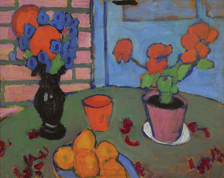 "alexej-jawlensky: ""Still-life with flowers and oranges via Alexej von Jawlensky """