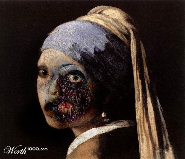 Zombie with a pearl earring