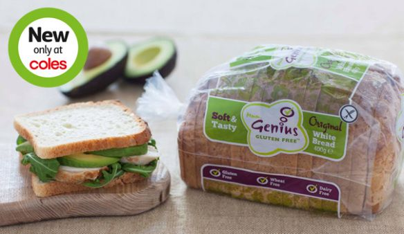 Genius Gluten Free Bread-Freezer section of Coles. I don't love it, but it doesn't hurt me