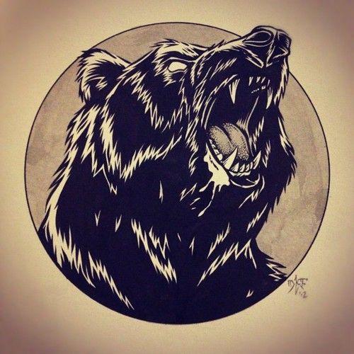 I drew a bear illustration by God--Awful