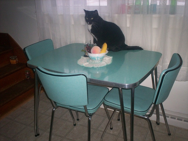 Retro Dinette Set In Exactly This Color Adorable Cat Not