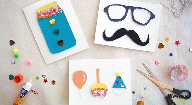 Как сделать открытку своими руками на день рождения папа