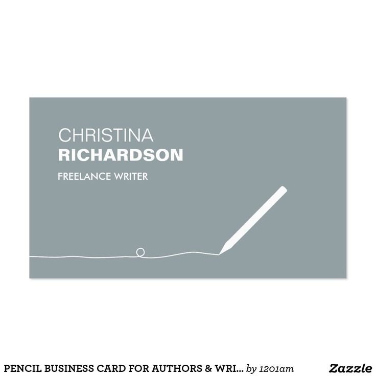 PENCIL BUSINESS CARD FOR AUTHORS & WRITERS III | Business Cards ...