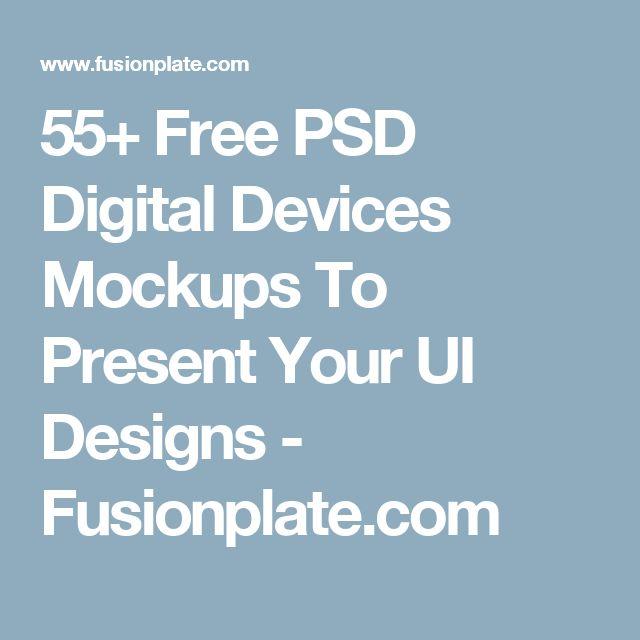 55+ Free PSD Digital Devices Mockups To Present Your UI Designs - Fusionplate.com