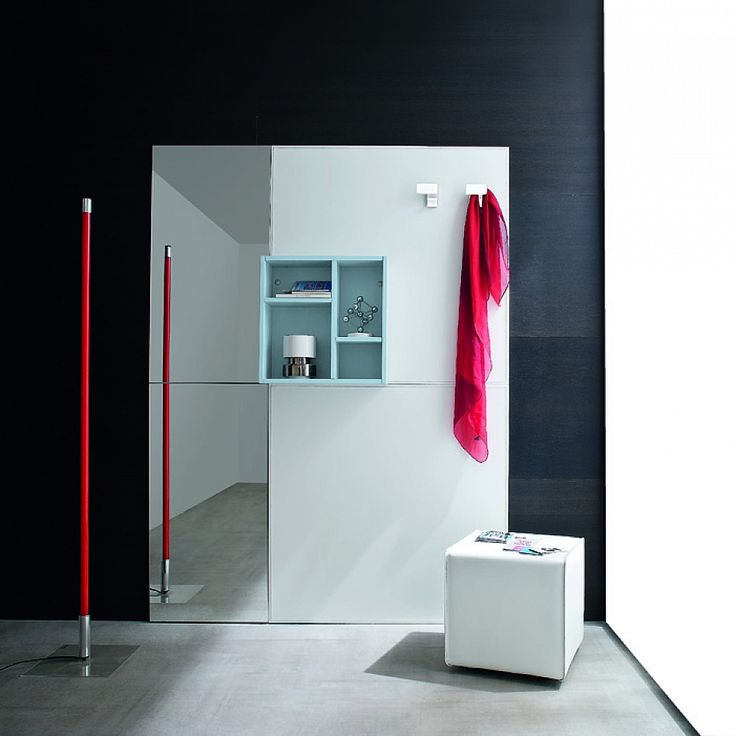 Functional modern corridor unit with mirror White by Birex