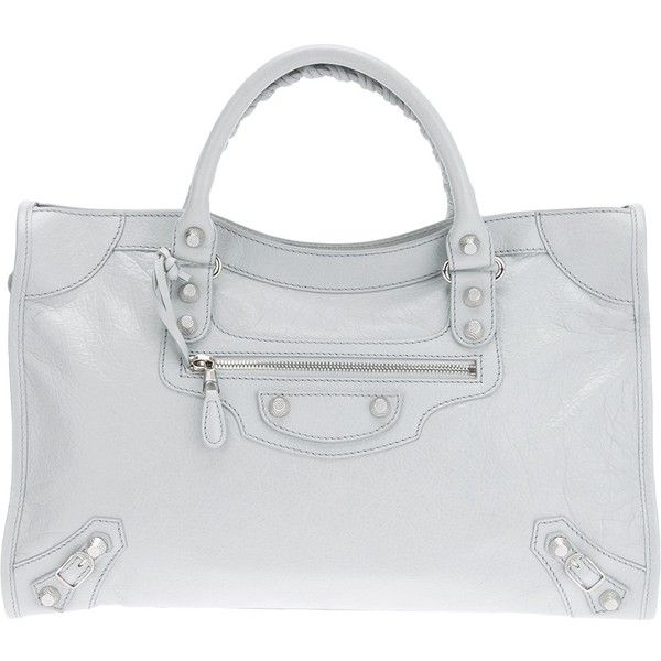 BALENCIAGA 'Giant City' tote ($1,859) ❤ liked on Polyvore featuring bags, handbags, tote bags, bags & totes, purses, grey handbags, purse tote bag, handbag purse, gray tote bag and balenciaga tote