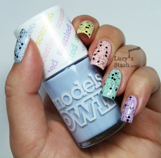 Lucyu0027s Stash   Models Own Fruit Pastel Collection With Nubar Black Polka Dot  Over It