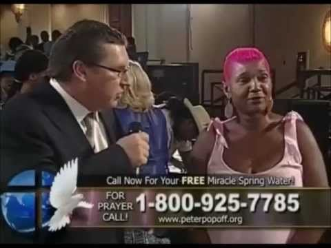 Peter Popoff's Most Insane Moments - Part 1  he  is  a  real  man  of  god  thank  you'