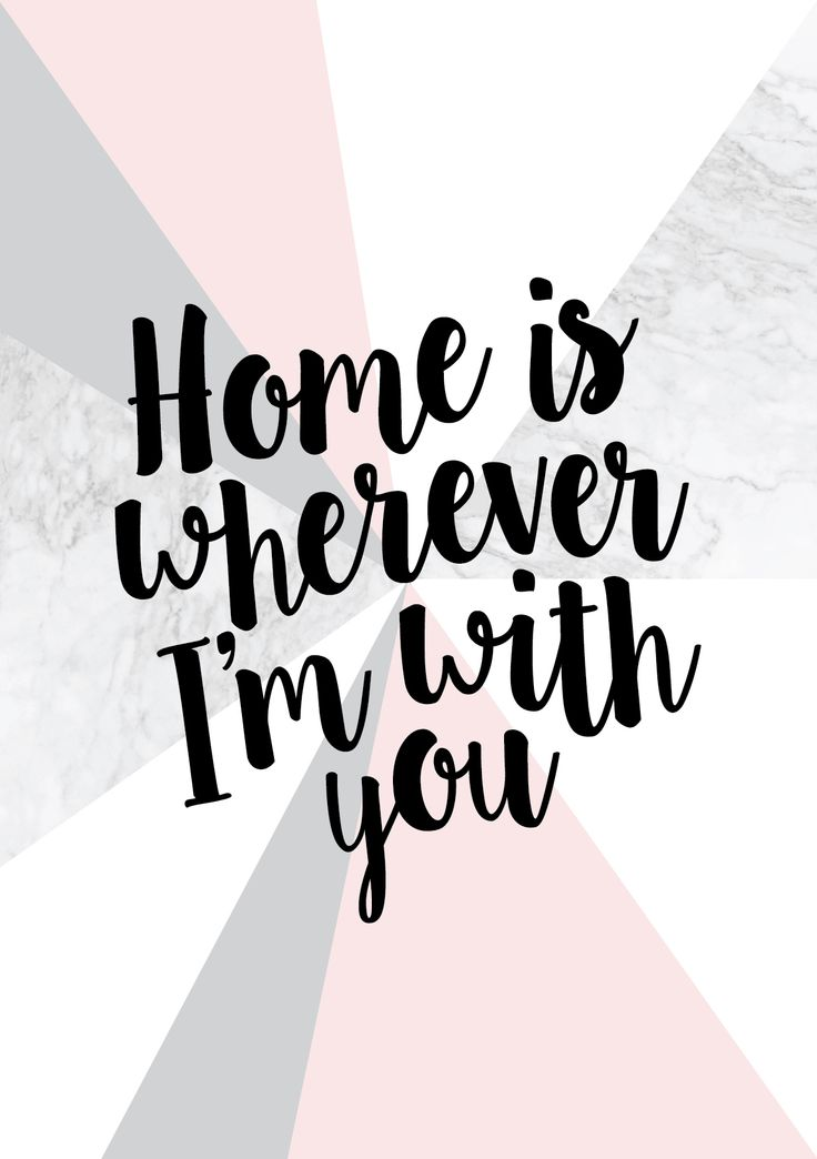 This 'Home is wherever I'm with you' print with a beautiful marble effect, greys, black and blush, is the perfect addition to any room!