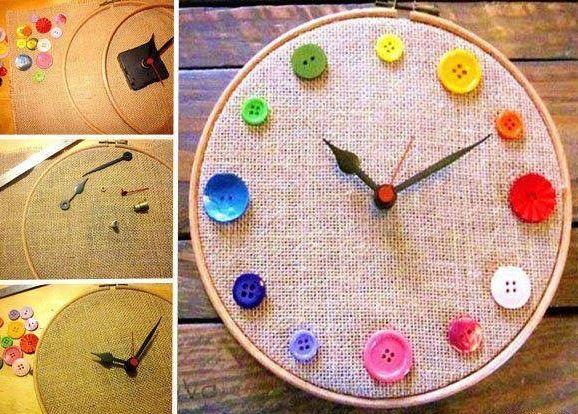 TUTORIAL de reloj pared de alpillera y botones