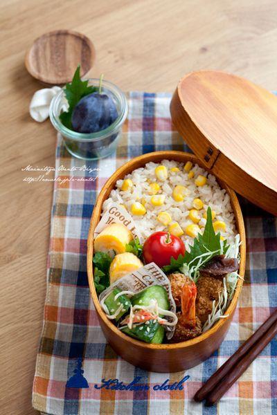 とうもろこしご飯のお弁当。 by あ~るママさん | レシピブログ - 料理 ...