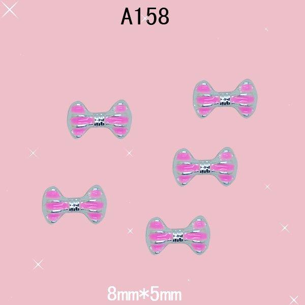 10 штуки / уп 3D серебряный сплав горный хрусталь розовый полоска галстук-бабочка маникюр iphone мобильный блесточки украшение своими руками JA158