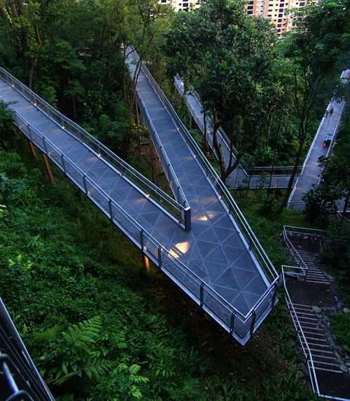 light pedestrian bridge