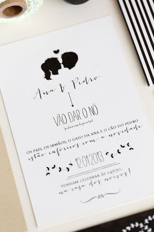 Convite diferente e ousado para o casal que quer causar e deixar as pessoas ansiosas para o dia do casamento.