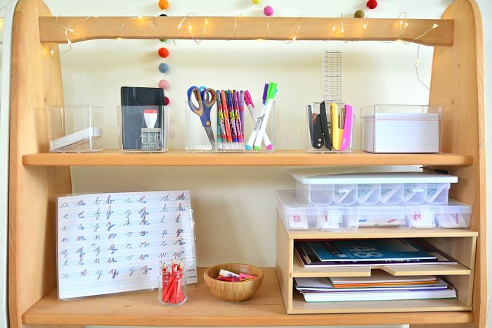 Montessori writing station