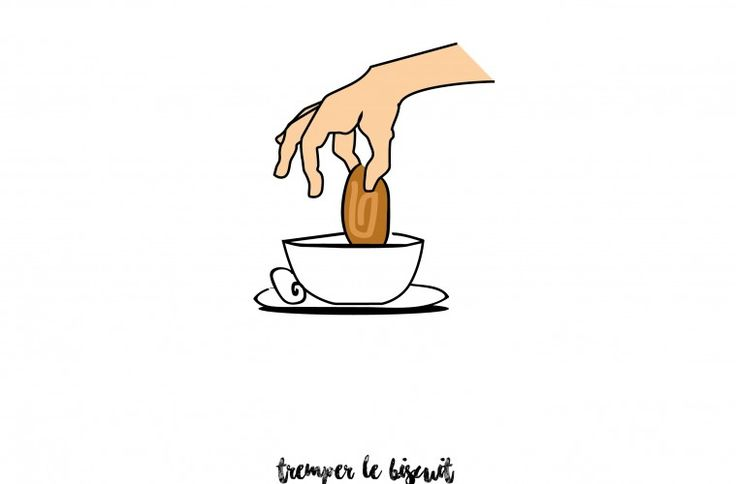Tremper le biscuit En avoir ras le bol ! Expression. French expression Illustration by Fernande & René www.fere.fr graphics / sketches/ dessins