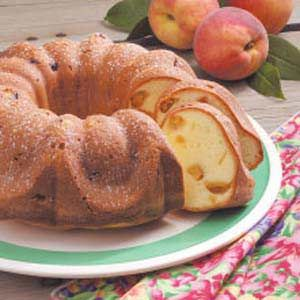 Peach Pound Cake Recipe -Our state grows excellent peaches, and this is one recipe I'm quick to pull out when they are in season. It's a tender, moist cake that receives rave reviews wherever I take it. -Betty Jean Gosnell, Inman, South Carolina