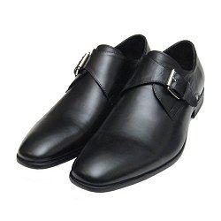 John White Black Monk Shoes for Men