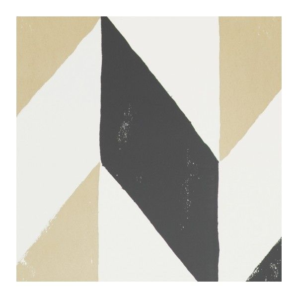 Kira Wallpaper ($100) ❤ liked on Polyvore featuring home, home decor, wallpaper, gold pattern wallpaper, geometric wallpaper, metallic wallpaper, gold chevron wallpaper and gray geometric wallpaper