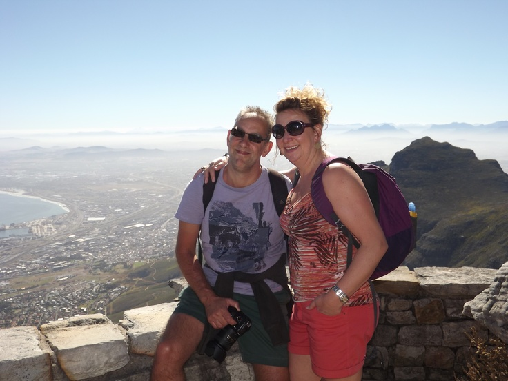 Me and my man on top of Table Mountain.