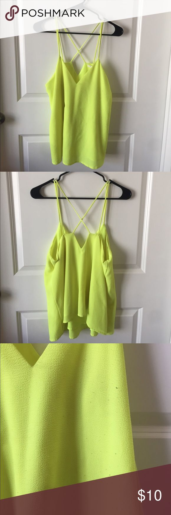 Neon yellow flowy top Neon yellow flowy top, some minor piling (see images) hypr Tops Blouses