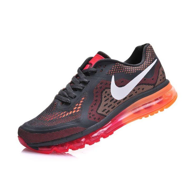 Nike Air Max 2014 Demping hardloopschoenen Dames zwart - LT paars - atomic oranje - wit