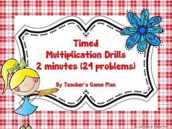 1000+ ideas about Multiplication Drills on Pinterest ...