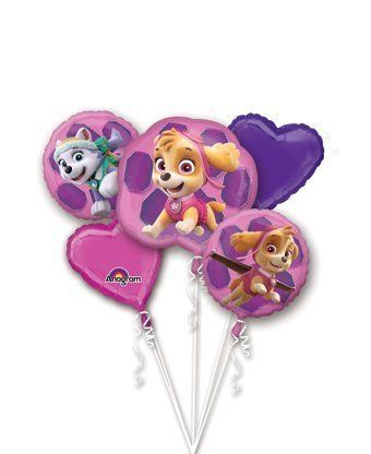 Paw Patrol Girls Pup Skye and Everest Foil Balloons Birthday Party Supplies (5 Piece Bouquet). #Patrol #Girls #Skye #Everest #Foil #Balloons #Birthday #Party #Supplies #Piece #Bouquet)