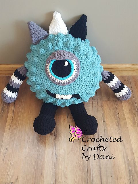 Ravelry: Monster Pillow Buddy pattern by Accessorize This Designs