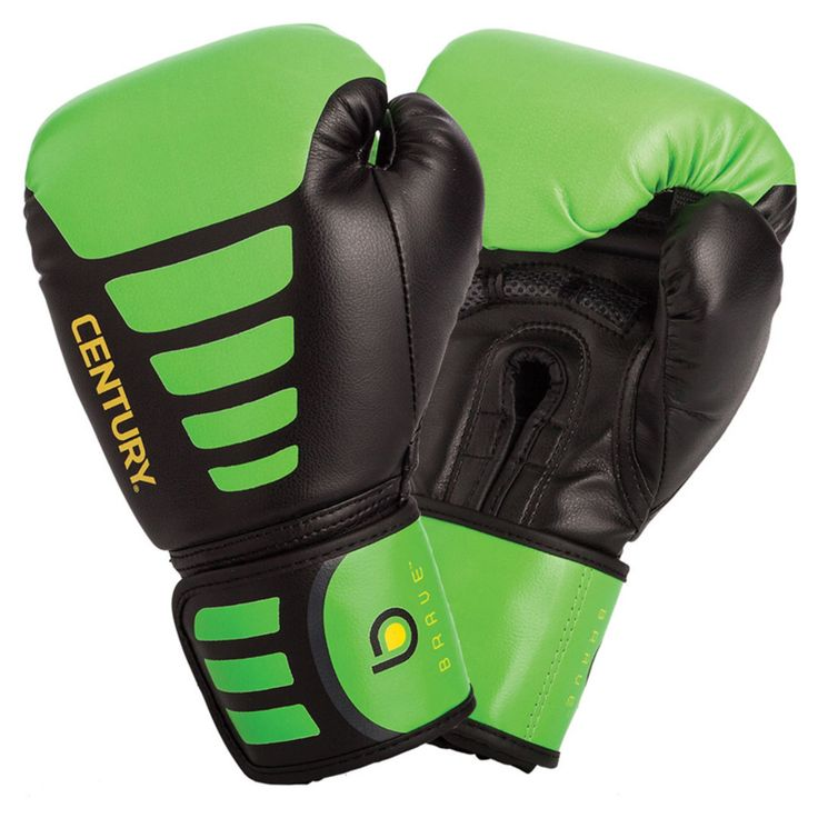 Century Brave Youth Boxing Glove - Black/Green - 147020P-015706