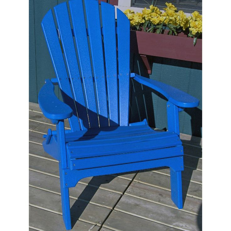 Shop Phat Tommy Marina Blue Recycled Plastic Adirondack Chair At Lowes.com  | Home Exteriors | Pinterest | Plastic Adirondack Chairs, Lowes And Patios