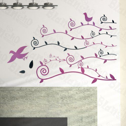 [Purple Flying Birds] Decorative Wall Stickers Appliques Decals Wall Decor Home Decor by Hemu Wall Sticker. $5.89. 100% brand new, quality & a good design; Be made of waterproof and durable vinyl.. Easy to install. Just peel slightly and stick on the smooth wall, which won't harm the Wall.. Simple & easy to make the wall a masterpiece with Blancho Bedding wall stickers decals.. Decorate baby and kids nursery, interior walls or windows of home, bathroom, office, dorm, or sto...