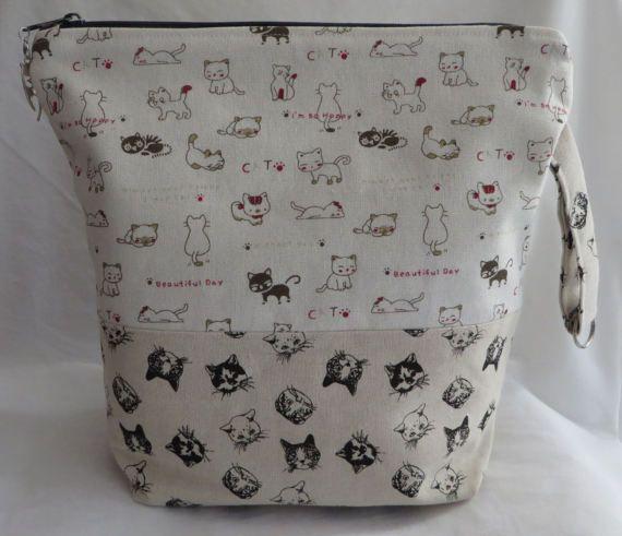 Project bag Pussycat  haaktas  breitas  van CorineCreative op Etsy  www.cronelia.nl