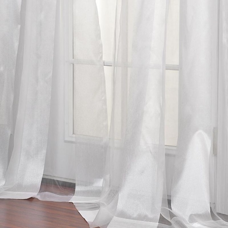 Boutique White Sheer Curtain Panel | Shabby Beach chic Bedroom ideas ...