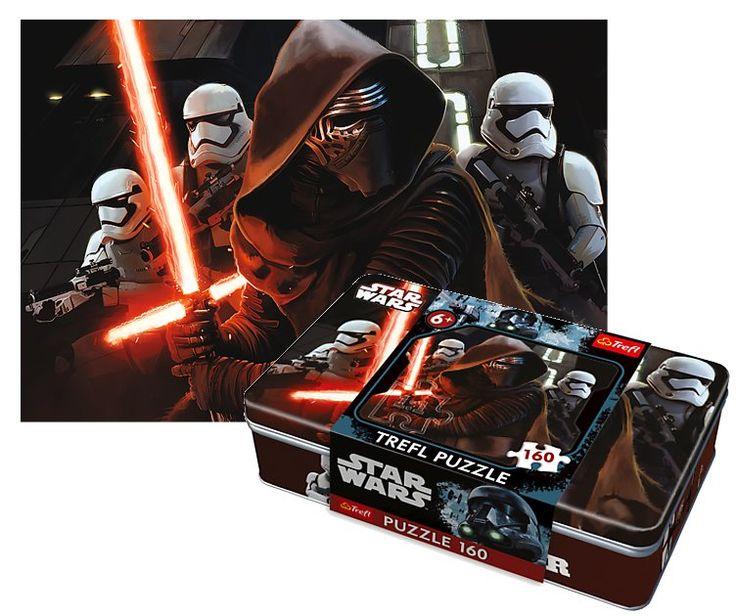TREFL puzzle Star Wars: Síla se probouzí v plechové krabičce 160 dílků