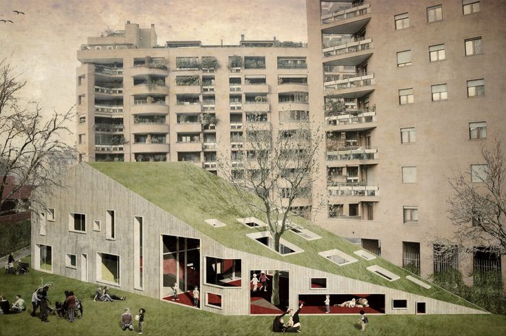 children pavilion, Milan (Italy) #architecture #green #roof #sustainability