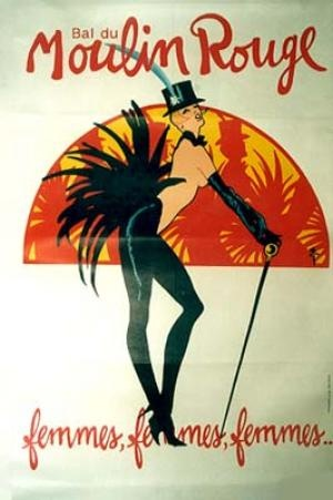 Vintage Poster: Bal Du Moulin Rouge by Gruau, Rene (Renato De Zavagli) | Vintage Posters by La Belle Epoque