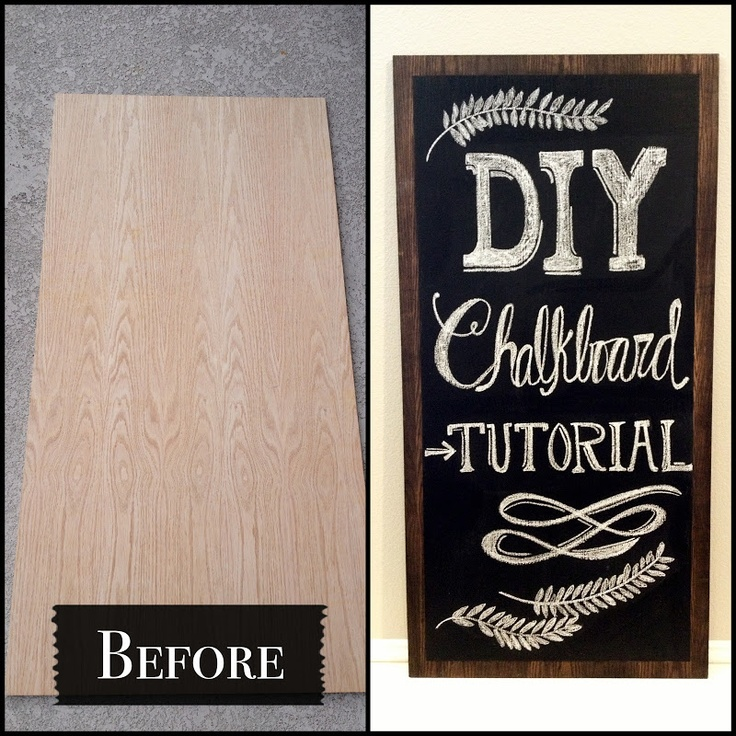 DIY Chalkboard Tutorial. Perfect! Do a few coats of magnetic paint before the chalkboard paint for a magnetic chalkboard! Can't wait!