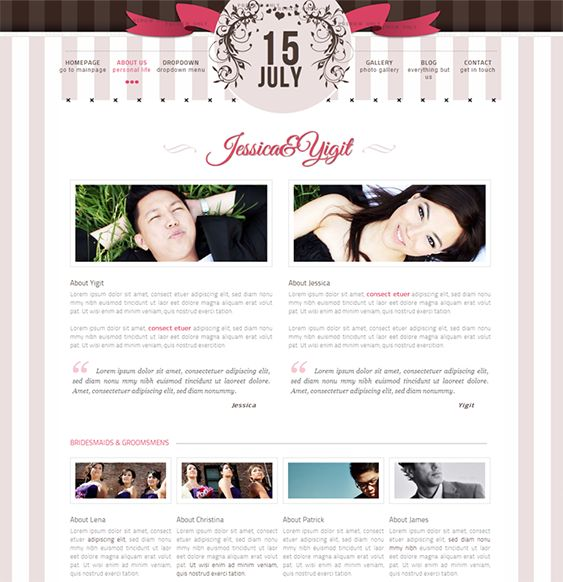 Google Website Templates 15 Best 15 Of The Best Free & Premium Wedding Website Templates