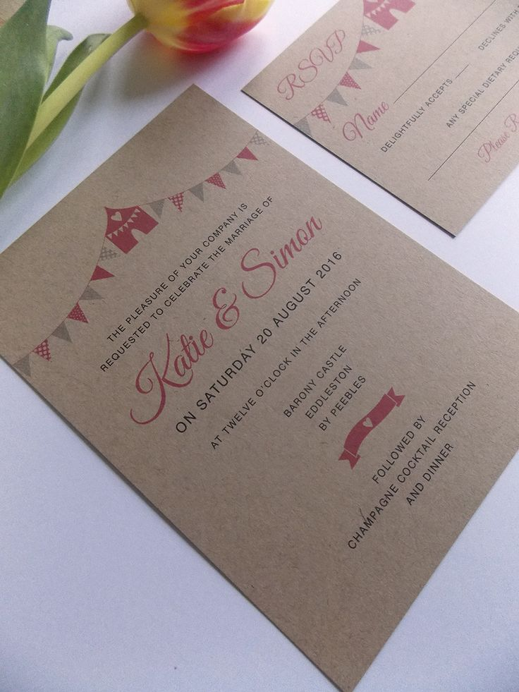 how to make film canister wedding invitations%0A This cute bunting wedding stationery would be the perfect match for a  rustic  barn wedding