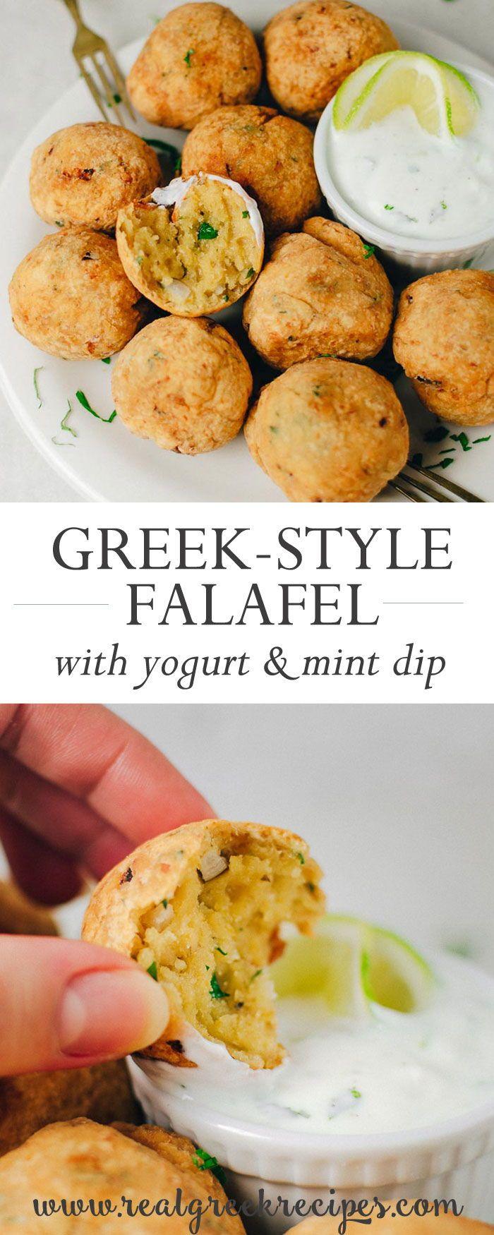 Chickpea Fritters Greek Style Falafel With Yogurt Mint Dip Real Greek Recipes Recipe Greek Recipes Chickpea Fritters Greek Dishes