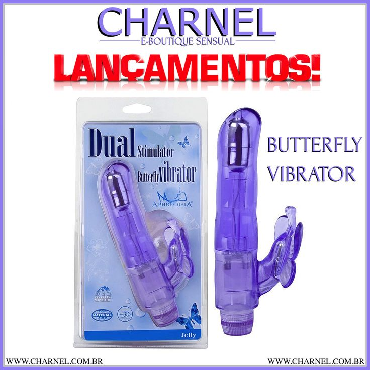 NOVIDADE NA SUA BOUTIQUE CHARNEL! UM NOVO VIBRADOR, O BUTTERFLY VIBRATOR. VENHA DESCOBRI-LO AGORA! SÓ NO SEX SHOP CHARNEL! http://www.charnel.com.br/feminino/vibradores/vibrador-com-estimulador-borboleta.phtml
