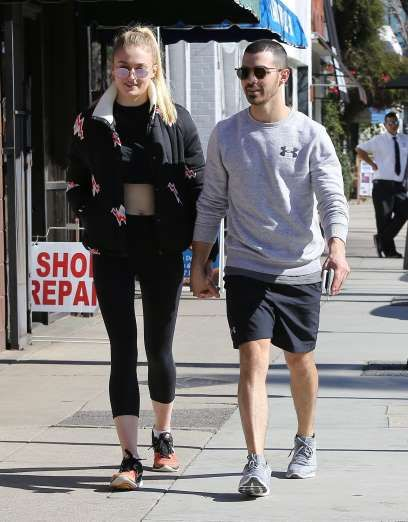 Celebrity PDA of 2017 - December 11, 2017:  Hot young couple Joe Jonas and Sophie Turner were spotted getting a healthy juice on Valentine's Day in Studio City, California.