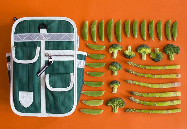 goodorering mochila original y vintage para niños color verde