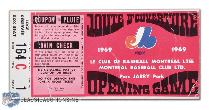 montreal expos game programs 1970's   1969 Montreal Expos First Home Game Program,  Ticket Stub & Yearbook ... (No, it's Joute D'Ouverture!)